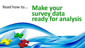 How to survey data analysis ready