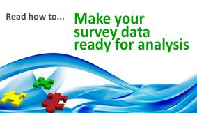 How to survey data analysis ready